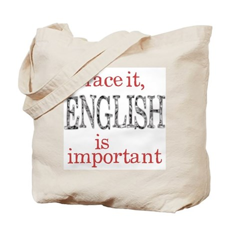 English Important Tote Bag