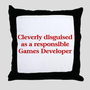 Games Developer Throw Pillow