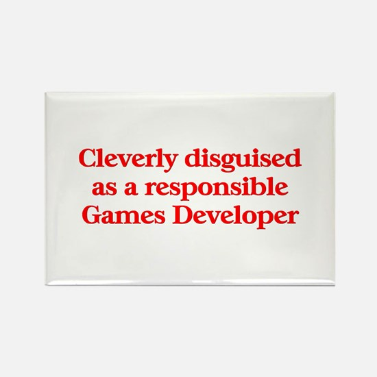Games Developer Rectangle Magnet (10 pack)