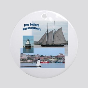 New Bedford Harbor Ornament (Round)