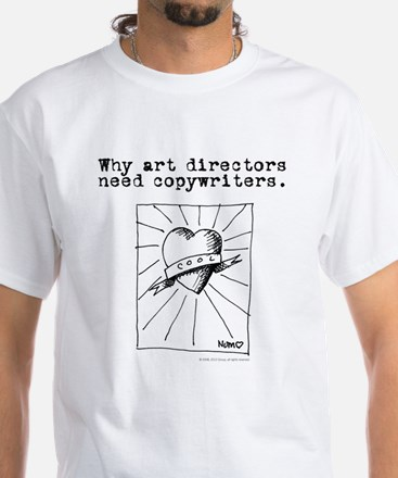 An Ad World, AD layout White T-Shirt