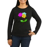 Cute Bouquet Women's Long Sleeve Dark T-Shirt