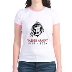 Yasser Arafat Jr. Ringer T-Shirt