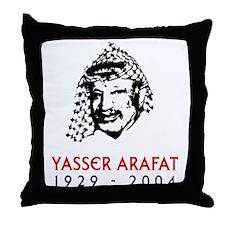 Yasser Arafat Throw Pillow