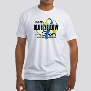 Blue & Yellow for Son Fitted T-Shirt