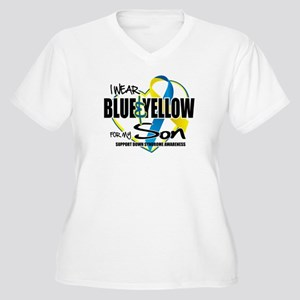 Blue & Yellow for Son Women's Plus Size V-Neck T-S