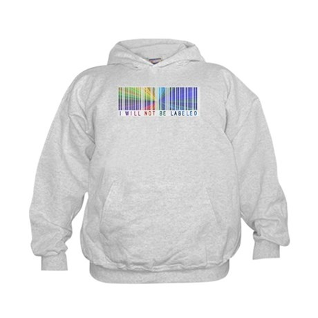 I Will Not Be Labeled Kids Hoodie