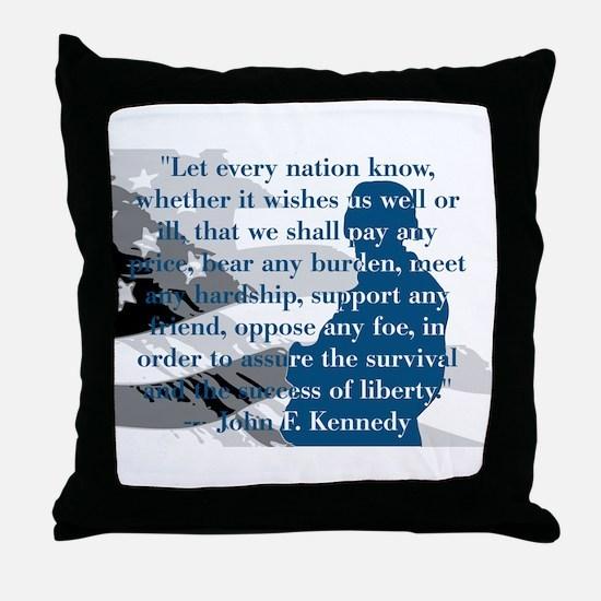 Unique Jfk Throw Pillow