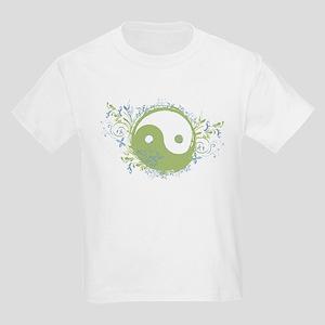 Pretty Yin-Yang Symbol : Green/Blue Kids Light T-S