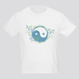 Pretty Yin-Yang Symbol : Blue/Green Kids Light T-S
