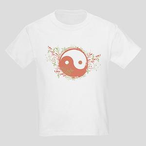 Pretty Yin-Yang Symbol : Coral/Green Kids Light T-