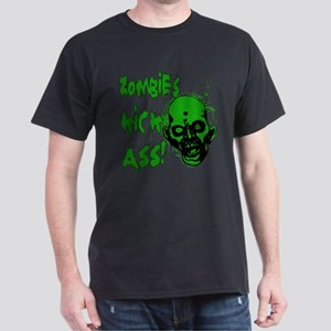 Zombies Kick Ass! Dark T-Shirt