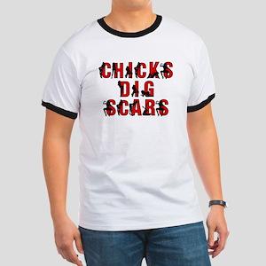 Chicks Dig Scars Ringer T