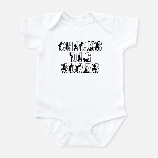 Chicks Dig Scars Infant Bodysuit