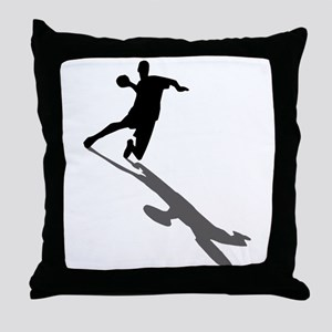 Handball Player Throw Pillow