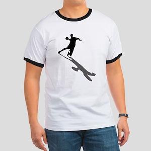 Handball Player Ringer T