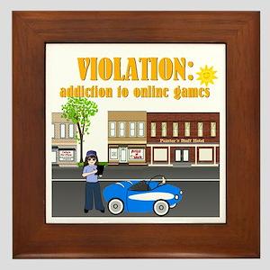 Addiction to Online Games Framed Tile