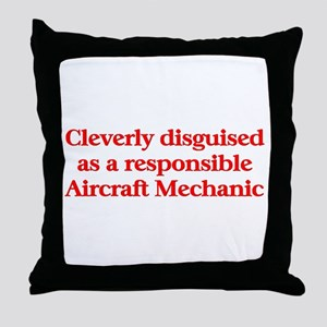 Aircraft Mechanic Throw Pillow