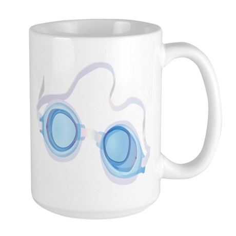 Swimming Goggles Large Mug