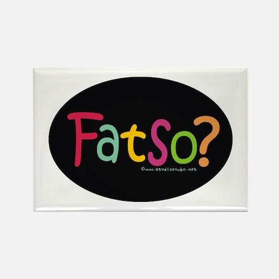 Fatso III Body Image Rectangle Magnet