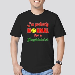 I'm perfectly normal f Men's Fitted T-Shirt (dark)