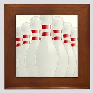 Bowling Gifts Framed Tile