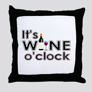 It's Wine O'Clock Throw Pillow