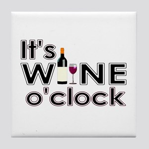 It's Wine O'Clock Tile Coaster