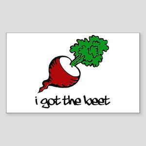 Got the Beet Rectangle Sticker