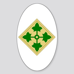 4th Infantry Division (1) Oval Sticker