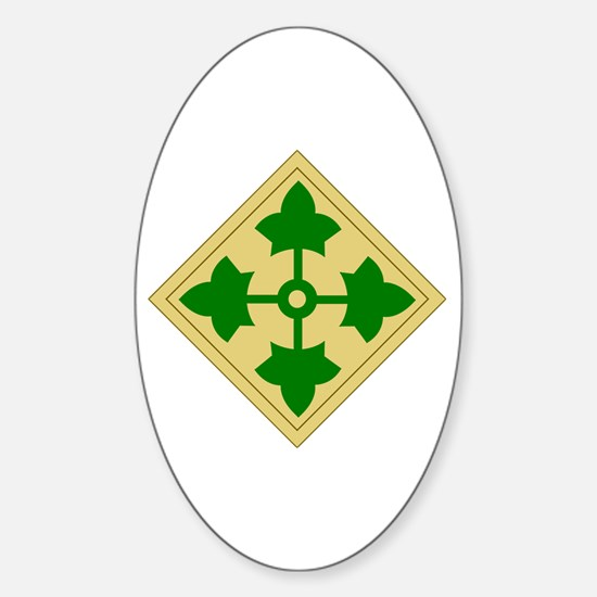 4th Infantry Division (1) Oval Decal