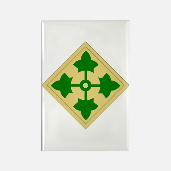 4th Infantry Division (1) Rectangle Magnet