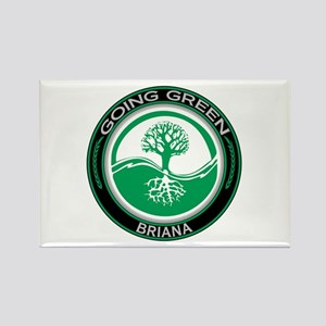 Going Green Tree, Briana Rectangle Magnet