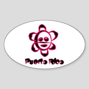 Sol Taino Oval Sticker