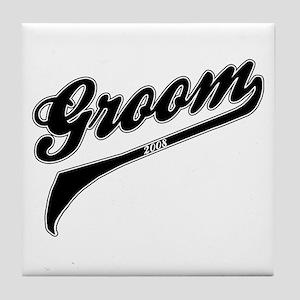 Sporty Groom 2008 Tile Coaster