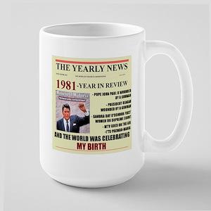 born in 1981 birthday gift Large Mug
