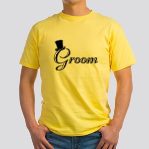 Groom with Jaunty Top Hat Yellow T-Shirt