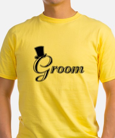 Groom with Jaunty Top Hat T