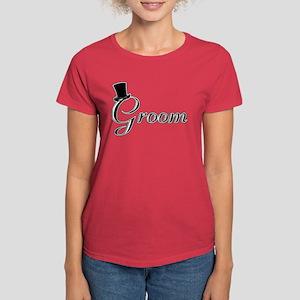 Groom with Jaunty Top Hat Women's Dark T-Shirt