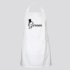 Groom with Jaunty Top Hat BBQ Apron