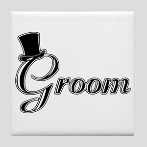Groom with Jaunty Top Hat Tile Coaster