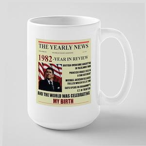 born in 1982 birthday gift Large Mug