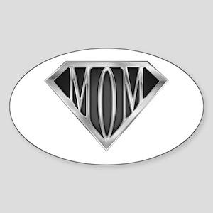 Supermom(metal) Oval Sticker
