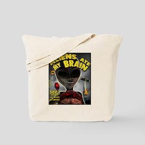 Aliens Ate My Brain Tote Bag