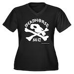 DeadHORSe MC Women's Plus Size V-Neck Dark T-Shirt