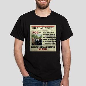 born in 1990 birthday gift Dark T-Shirt