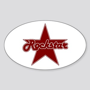 Retro Rockstar Oval Sticker