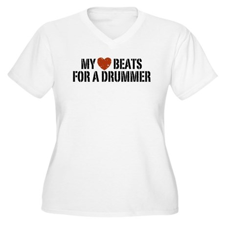My Heart Beats for a Drummer Women's Plus Size V-N