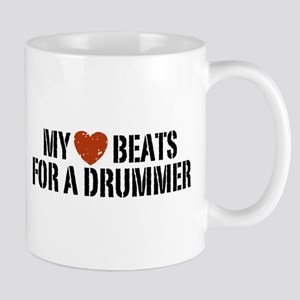 My Heart Beats for a Drummer Mug