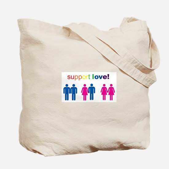 Cute Support gay marriage Tote Bag